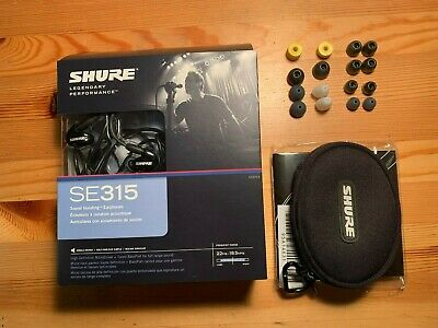 Shure SE315 In-Ear Only Headphones - Black • 85£