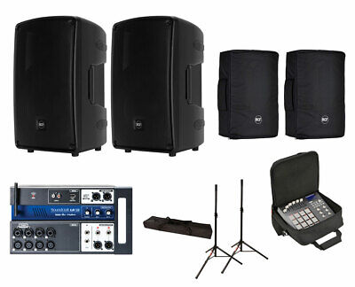 2x RCF HD 32-A MK4 Active Speaker W/ Covers + Soundcraft Ui12 W/ Bag + Stands • 1,740.32£