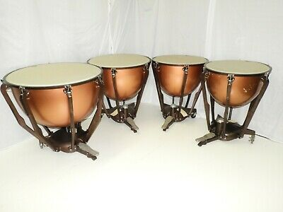 4 Ludwig Timpani Drums 32 29 26 23 With Remo Renaissance Heads Tympani • 3,448£