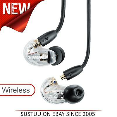 Shure SE215 Single Driver IEM Earphone/Headphones With Bluetooth 5.0 Cable|Clear • 94.99£
