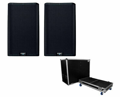2x QSC K12.2 12  2-Way Active Speaker+ ProX X-QSCK12 Speaker Case - Holds 2 • 1,294.17£