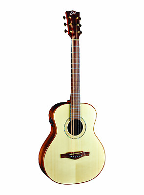 Eko EGO Marco Polo SO Solid Spruce Ovankol Electro Acoustic Travel Guitar G Bag • 659.95£