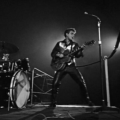 OLD MUSIC PHOTO Eddie Cochran Performs On Stage Playing A Gretsch G6120 • 4.71£