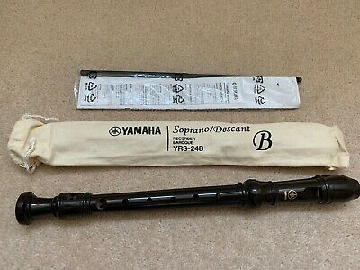 Yamaha YRS-24B Soprano/Descant Recorder ABS Resin Body In Brown Finish • 6£