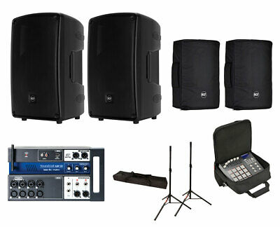 2x RCF HD 32-A MK4 Active Speaker W/ Covers + Soundcraft Ui12 W/ Bag + Stands • 1,712.18£