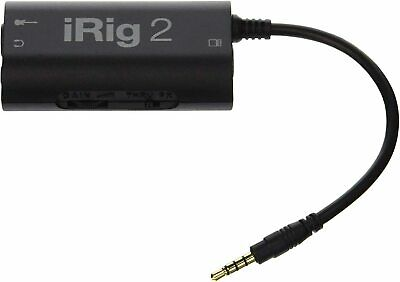 Ik Multimedia Irig 2 Mobile Guitar Interface With Iphone Ipad Mac Android New • 48£