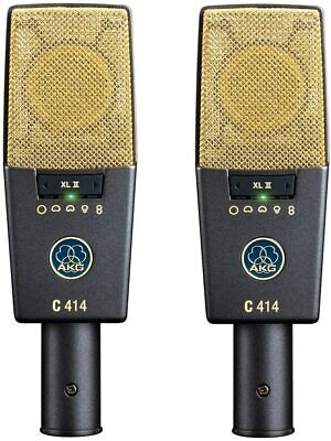 AKG C414 XLII Stereo Set Condenser Microphone Pairs Large Diaphragm Cardioid • 1,885.11£