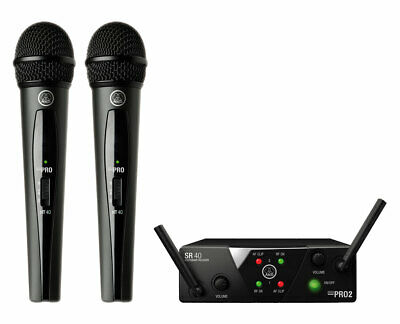 AKG WMS40 Mini Dual Vocal Set Wireless Handheld Microphone System (Band A/C) • 104.26£