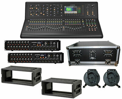 Midas M32 Live Digital Mixer + 2x DL16 Stage Box + 2x 150' Cat5 Cables + Cases • 6,201.99£