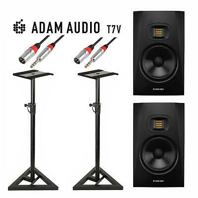Adam Audio T7V 7  Studio Monitors (Pair) With Monitor Stands & Cables • 399£