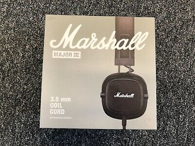 MARSHALL Major III With 3.5mm Coil Cord - Brown - WIRED! NEW BOXED!! • 52.99£