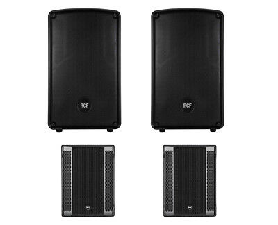 2x RCF HD 12-A MK4 HD12A + 2x RCF SUB 8003-AS II Active Speaker / Subwoofer 2.2 • 3,983.44£