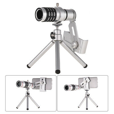 12X Optical Zoom Mobile Phone Telephoto Lens With Tripod For IPhone Samsung N5F6 • 14.30£