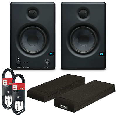Presonus Eris E4.5 Active Studio Monitor Bundle With Isolation Pads & Cables • 199£