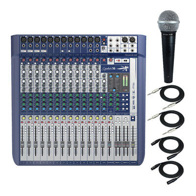 Soundcraft Signature 16 Analog 16-Channel Mixer Recording Bundle With Accessory • 553.02£