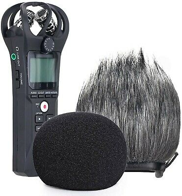 YOUSHARES Zoom H1n Recorder Foam & Furry Indoor/Outdoor Windscreen Muff, Pop Fil • 18.99£