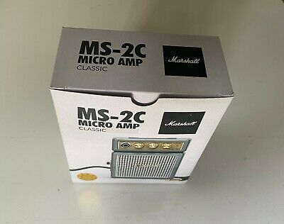Marshall Ms-2c 1 Watt Micro Guitar Amplifier Mini Amp MS2C (Unopened & New) • 25£