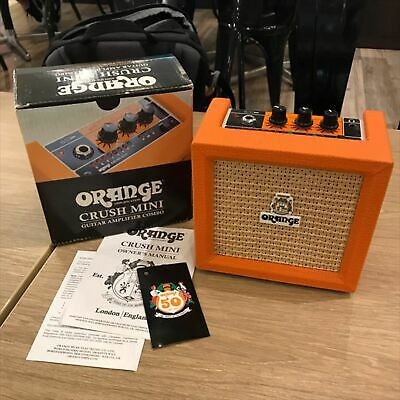 Used ORANGE Crush Mini Guitar Combo Amplifier3W Solid-State PICS ONLY Amp • 84.38£