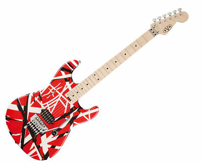 EVH Striped Series Electric Guitar - Red With Black Stripes - Used • 574.12£