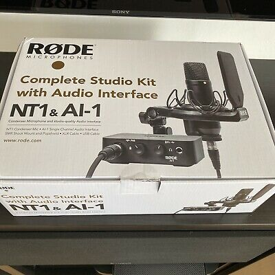Rode Microphone Complete Studio Kit With Audio Interface NT1 & AI-1 • 239£