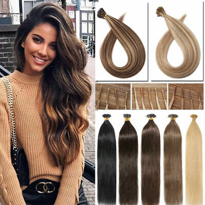 THICK 1G Micro Ring Real Remy Human Hair Stick I Tip Extension Pre Bonded UK Hot • 95.83£