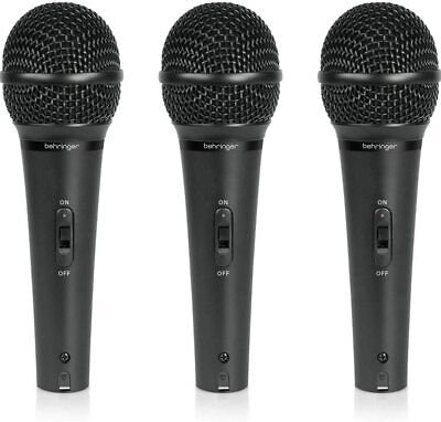 BEHRINGER Dynamic Microphone ULTRAVOICE XM1800S Vocal Set Of 3pcs New In Box • 109.78£