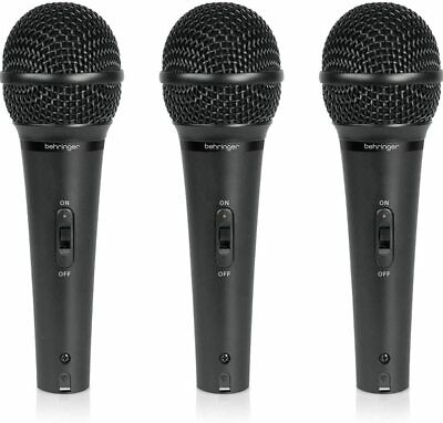BEHRINGER Dynamic Microphone ULTRAVOICE XM1800S Vocal Set Of 3pcs New In Box • 112.67£