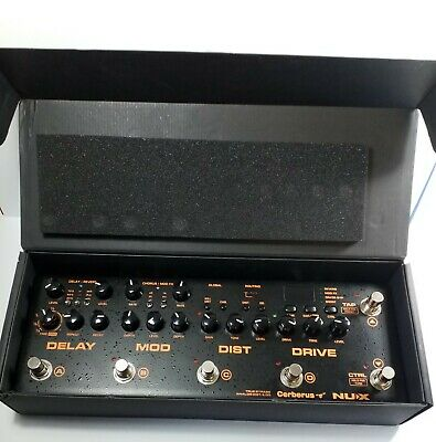 NUX Cerberus Guitar Multi Effects Guitar Pedal. Very Good Condition Free Postage • 165£