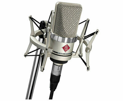 Neumann TLM102 Studio Set (Nickel) Condenser Microphone With Shockmount • 584.45£