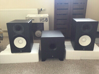 Yamaha HS8 Active Speakers With HS8S  Subwoofer. • 560£