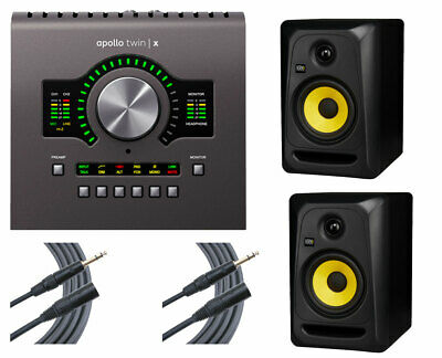 Universal Audio Apollo Twin X Duo Audio Interface + 2x KRK RP5 + 2x Mogami • 741.84£