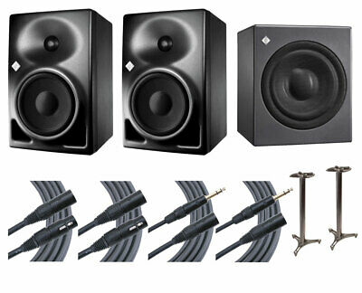 2x Neumann KH120A KH 120A Speakers + KH 750 Sub + Ultimate 45  Stands + Mogami • 2,244.31£