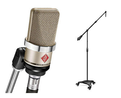 Neumann TLM102 Nickel Cardioid Condenser Microphone + Ultimate MC-125 Stand • 548.60£