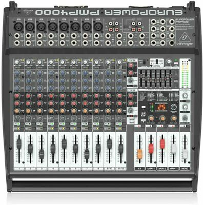 Behringer Europower PMP4000 Powered Mixer - 16 Channels, 1600 Watts With Mu • 488.48£