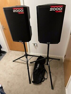 2 X Alto TS315 15 Inch 2000W Active PA DJ Loudspeakers + Stands • 450£