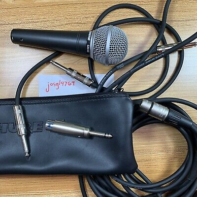 Shure SM48-LC Vocal Dynamic Microphone With Extras, Used • 45.84£