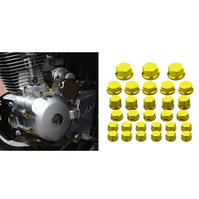 30Pc Motorcycle Nut Bolt Cover For Yamaha  Harley  Gold • 2.92£