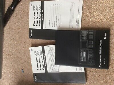 Roland Fantom X8 X7 X 6 Manual • 12£
