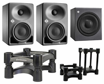 2x Neumann KH 80 KH80 DSP Speakers + KH 750 KH750 + Isoacoustic Isolation Stands • 1,878.70£