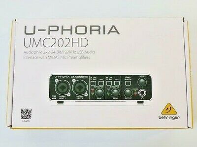 BEHRINGER U-PHORIA UMC202HD USB Audio Interface Pre Amplifier 2 In 4 Out • 123.88£