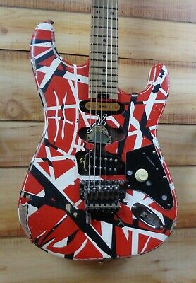 New EVH® Striped Series Frankie Electric Guitar Red With Black And White Stripes • 1,717.35£
