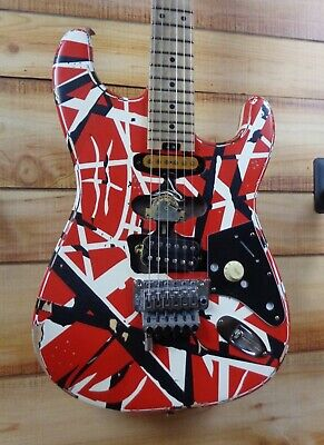 New EVH® Striped Series Frankie Electric Guitar Red With Black And White Stripes • 1,502.25£