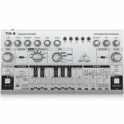 Behringer TD-3 Silver, Analogue Bass Line Synthesizer (UK Power Supply Included) • 129£