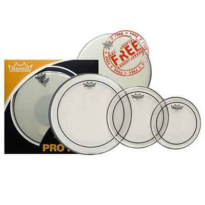 Remo Pinstripe Clear Drum Head Pro Pack - 10,12,16 + 14