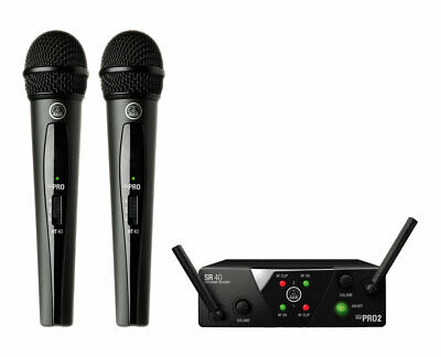 AKG WMS40 Mini Dual Vocal Set Wireless Handheld Microphone System (Band B/D) • 141.25£