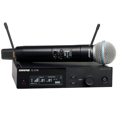 Shure SLXD24/B58 Wireless System With Beta 58A Handheld Microphone (Freq. H55) • 539.53£