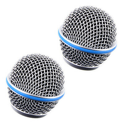 2Pcs Microphone Grill Mic Grille Ball Head Mesh Fit For Shure Beta58A SM58 Pgx24 • 5.92£
