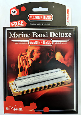 HOHNER HARMONICA MARINE BAND DELUXE HIGH QUALITY (MADE IN GERMANY) in Key Ab