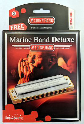 HOHNER HARMONICA MARINE BAND DELUXE HIGH QUALITY (MADE IN GERMANY) in Key G