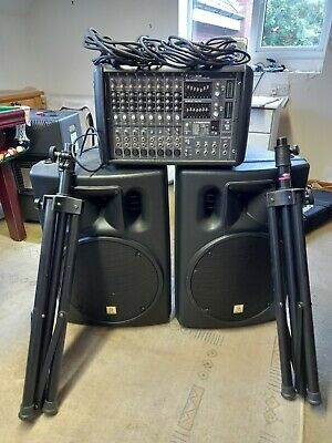 Mackie PPM 608 1000W Powered Mixer With X2 The Box Passive Speakers